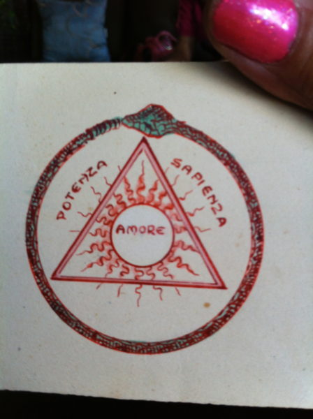 The sigil found inside of Great Aunt Maria's palmistry book